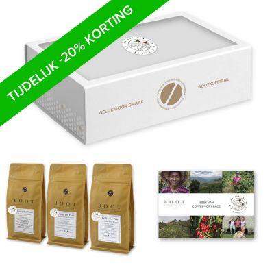 Coffee for Peace Pakket - Finesse - 3-delig 250 grams Espresso