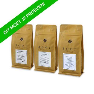 Boot Koffie Proefpakket Espresso - 3 x 50 gram