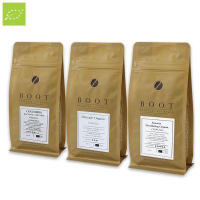 Organisch Succes - Boot organic pakket - 3-delig 250 gr Espresso