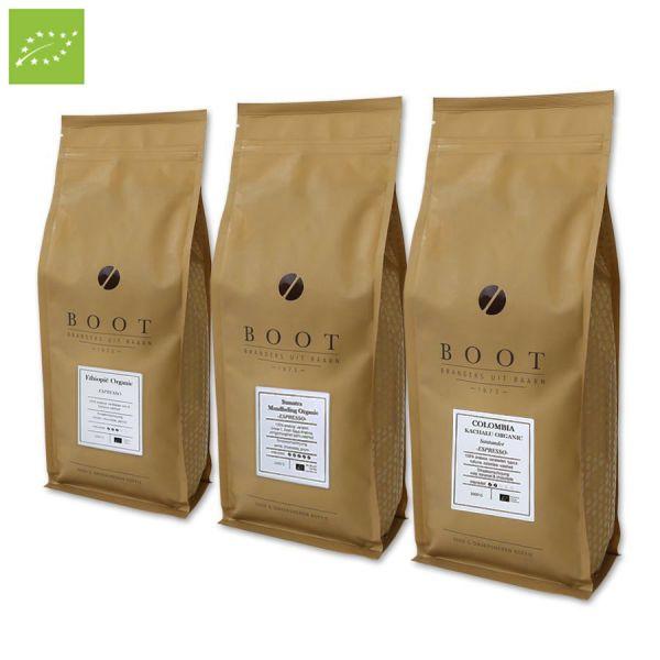 Organische Successen - Boot organic pakket - 3-delig 1 Kg Espresso